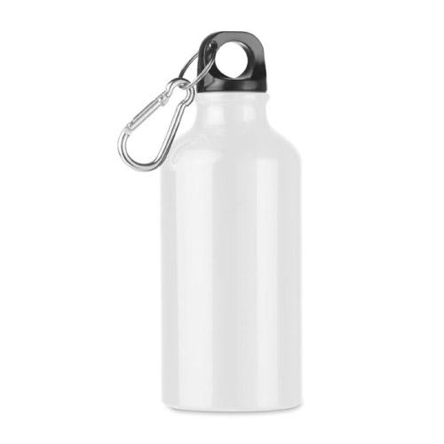 Bouteille personnalisable aluminium blanche 400ml
