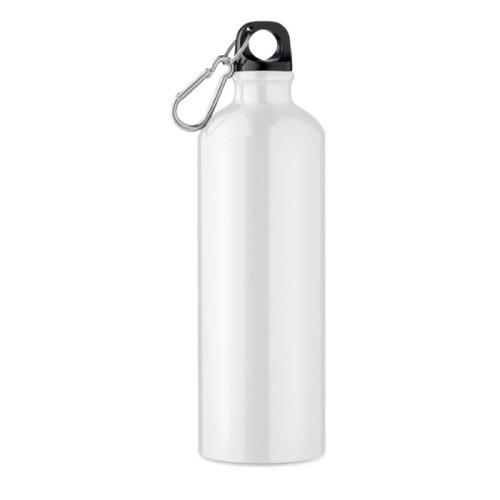Bouteille personnalisable aluminium blanche 750ml