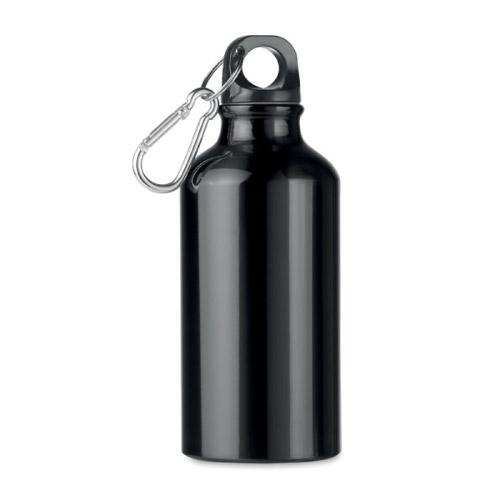 Bouteille personnalisable aluminium noire 400ml