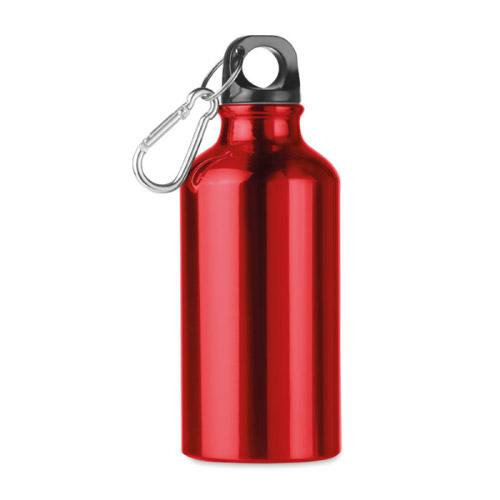 Bouteille personnalisable aluminium rouge 400ml