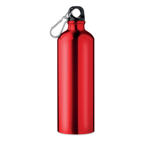 Bouteille personnalisable aluminium rouge 750ml