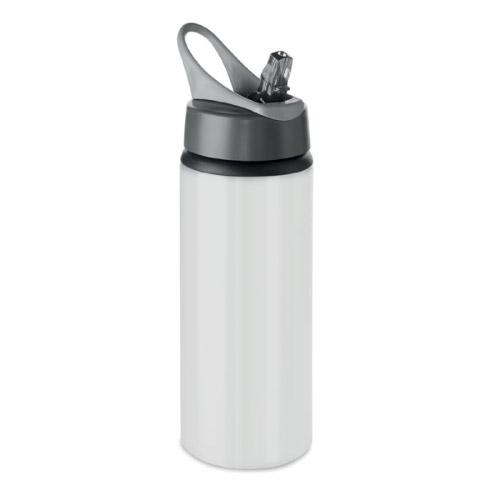 Gourde sport personnalisable aluminium blanche 600ml