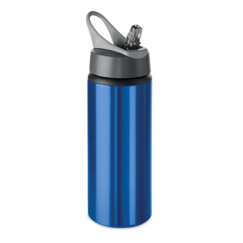 Gourde sport personnalisable aluminium bleue 600ml