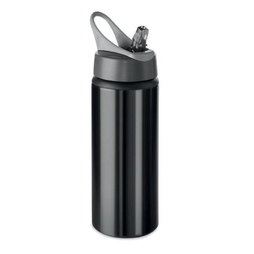 Gourde sport personnalisable aluminium noire 600ml