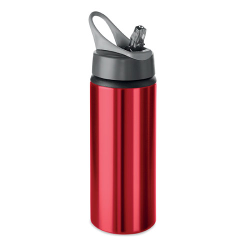 Gourde sport personnalisable aluminium rouge 600ml