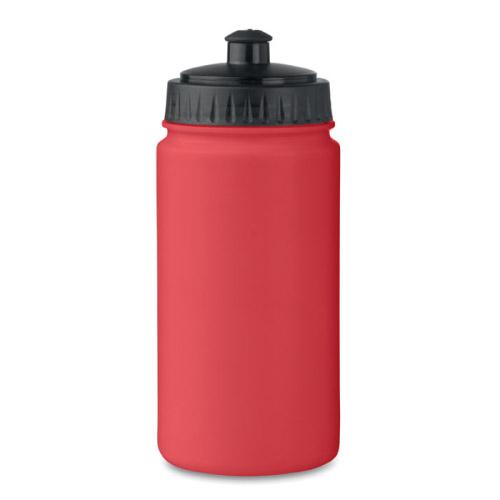 Gourde sport personnalisable plastique rouge 500ml