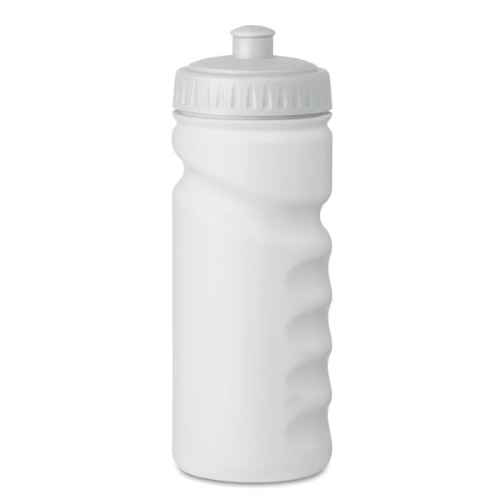 gourde sport personnalisable plastique rigide 500ml blanche
