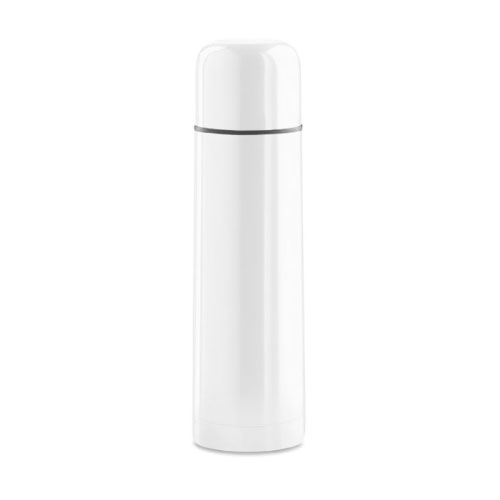 Bouteille isotherme personnalisable inox blanche