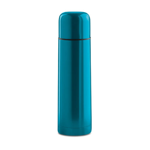 Bouteille isotherme personnalisable inox bleue clair