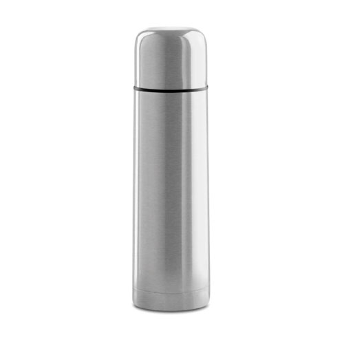Bouteille isotherme personnalisable inox grise