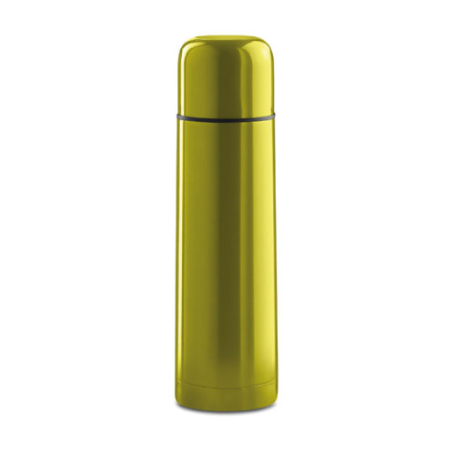 Bouteille isotherme personnalisable inox jaune