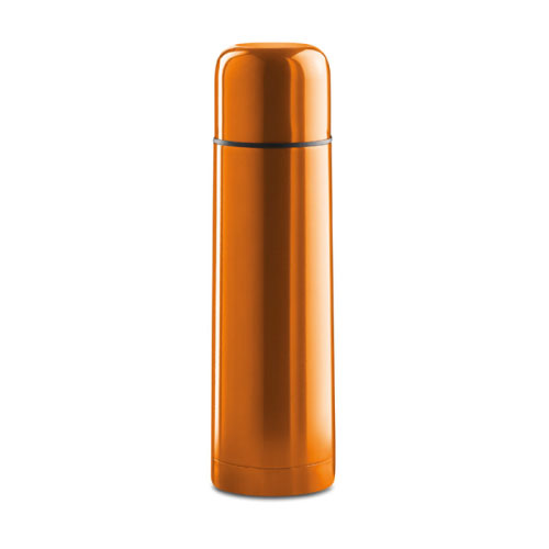 Bouteille isotherme personnalisable inox orange