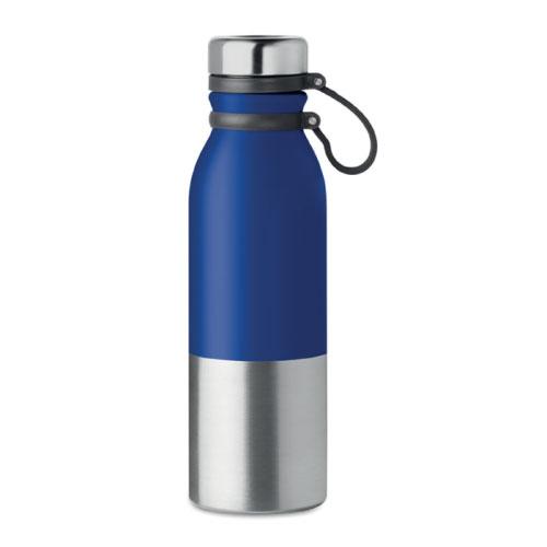 Gourde inox personnalisable bleue avec poignee