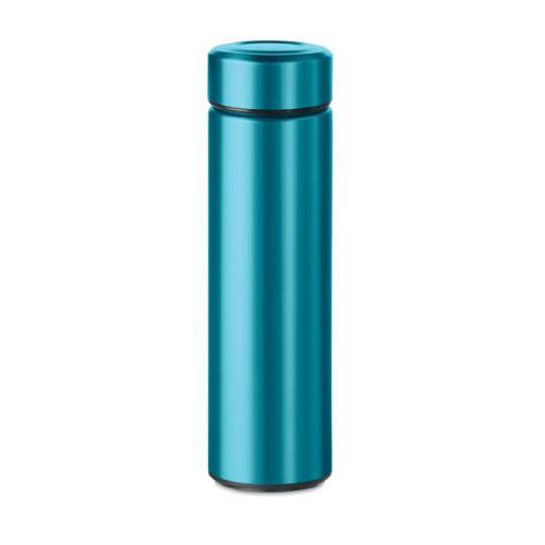 Gourde inox personnalisable bleue clair avec infuseur