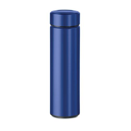 Gourde inox personnalisable bleue foncé avec infuseur