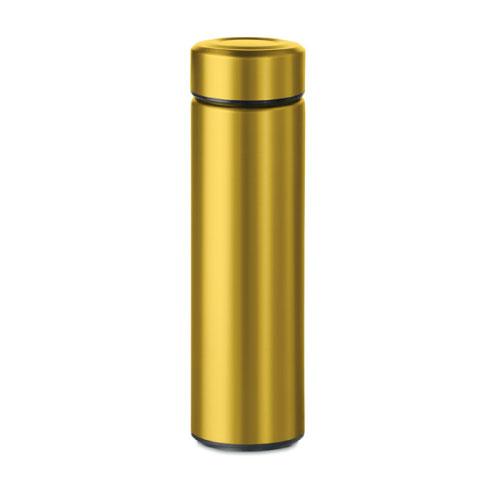 Gourde inox personnalisable dorée avec infuseur