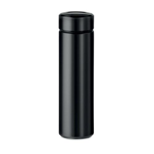 Gourde inox personnalisable noire avec infuseur