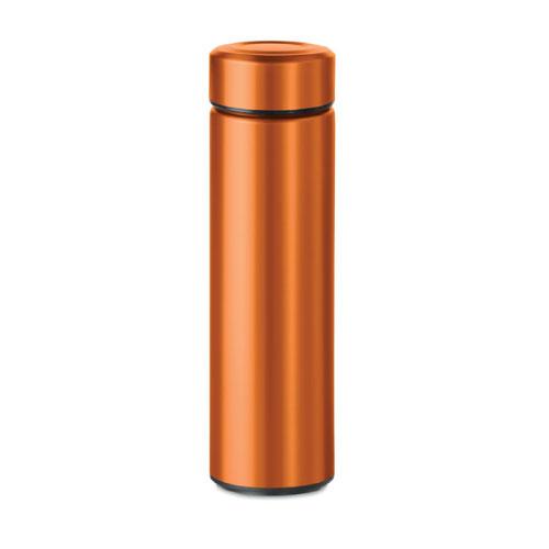 Gourde inox personnalisable orange avec infuseur