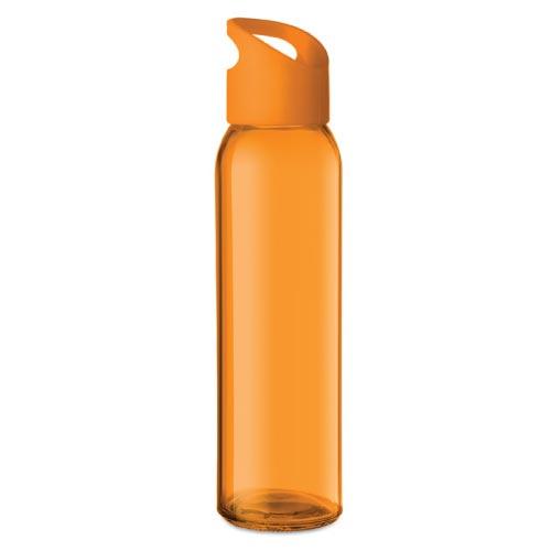 bouteille d'eau personnalisée en verre 470ml orange