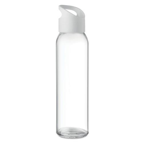 bouteille d'eau personnalisée en verre 470ml transparente