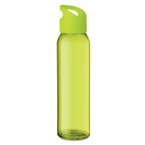 bouteille d'eau personnalisée en verre 470ml verte