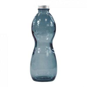 bouteille d'eau personnalisée en verre recyclé noir
