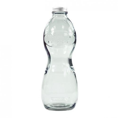 bouteille d'eau personnalisée en verre recyclé transparent
