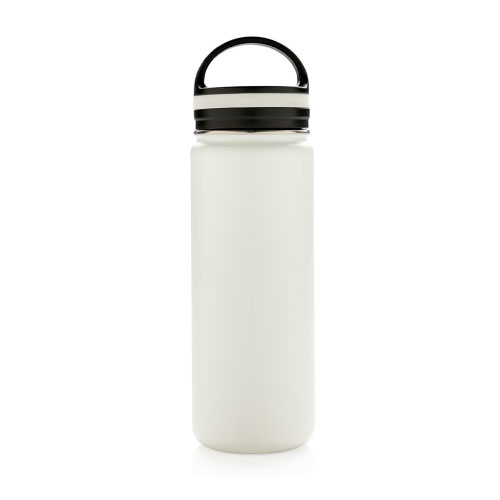 bouteille isotherme en inox personnalisable 500ml blanche avec poignee