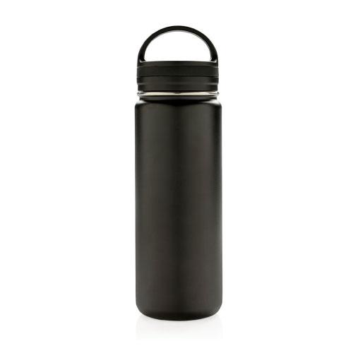 bouteille isotherme en inox personnalisable 500ml noire avec poignee