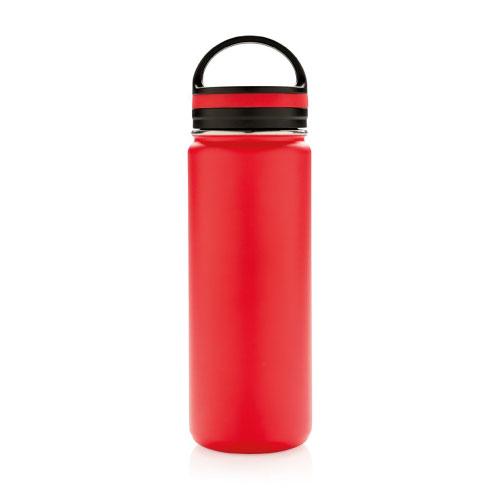 bouteille isotherme en inox personnalisable 500ml rouge avec poignee
