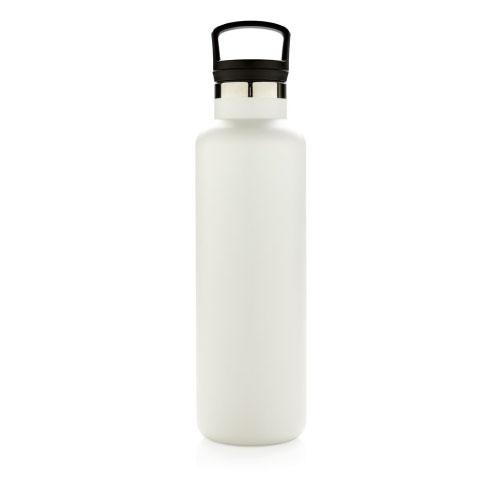 bouteille isotherme personnalisable blanche 600ml avec poignée