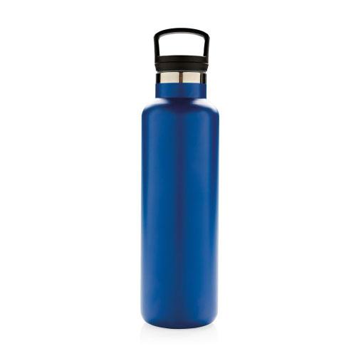 bouteille isotherme personnalisable bleue 600ml avec poignée