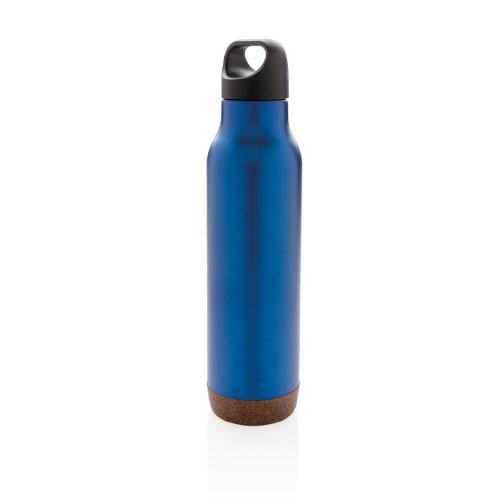 bouteille isotherme personnalisable bleue finition liege