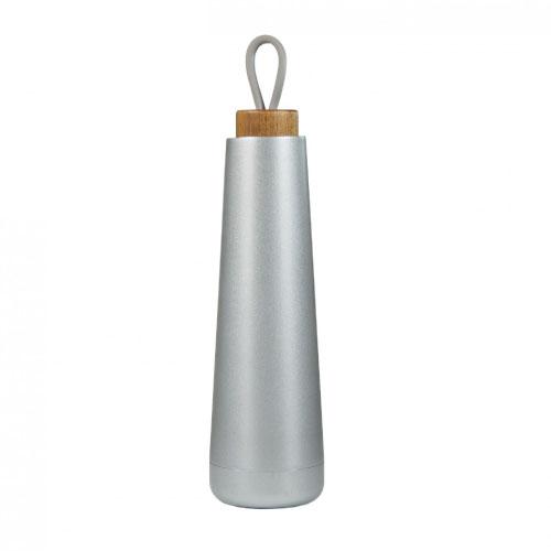 bouteille isotherme personnalisable inox 500ml avec bouchon en bois