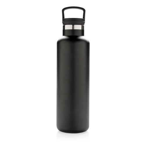 bouteille isotherme personnalisable noire 600ml avec poignée