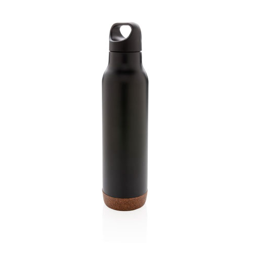 bouteille isotherme personnalisable noire finition liege