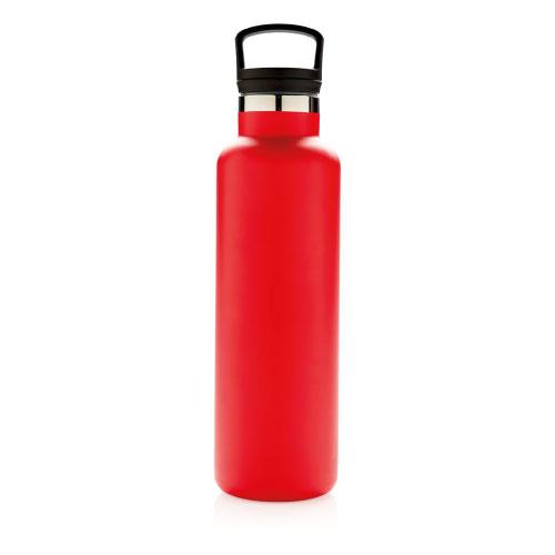 bouteille isotherme personnalisable rouge 600ml avec poignée