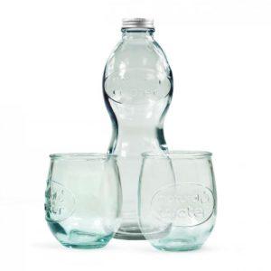 coffret bouteille d'eau et verres personnalisés