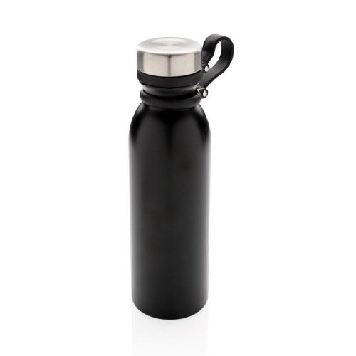 gourde inox isotherme en cuivre personnalisable noire