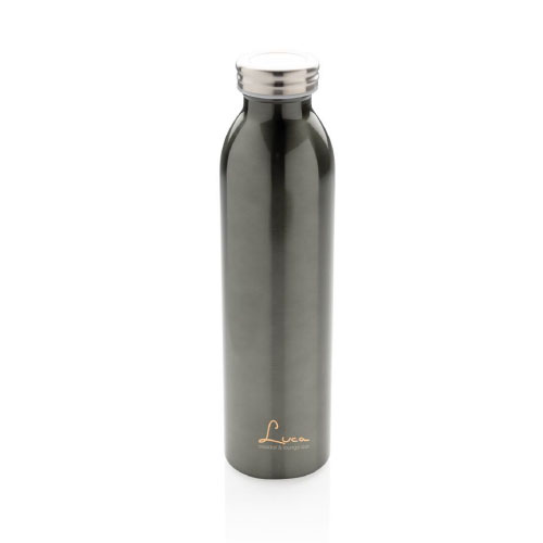 gourde personnalisable isotherme inox et cuivre 600ml anthracite