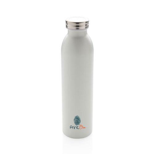 gourde personnalisable isotherme inox et cuivre 600ml blanc
