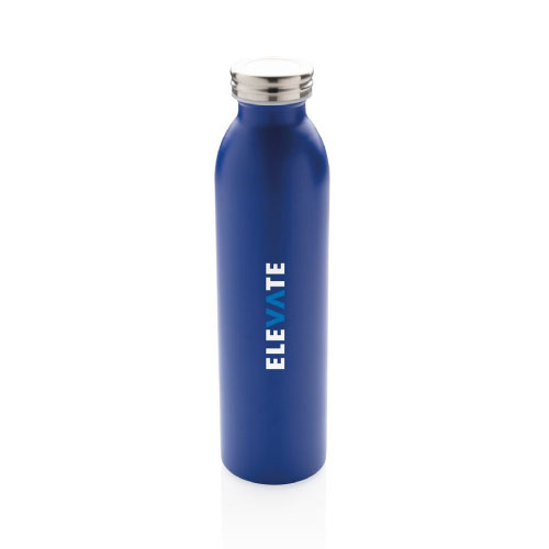 gourde personnalisable isotherme inox et cuivre 600ml bleue