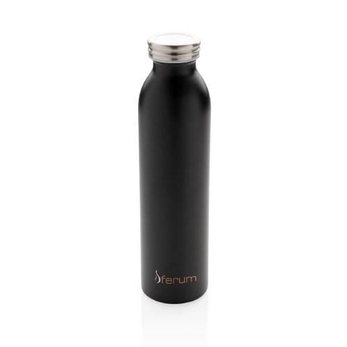 gourde personnalisable isotherme inox et cuivre 600ml noire